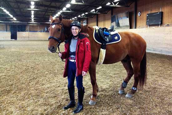 Nisse och jag efter träningens slut. Foto Helen D.