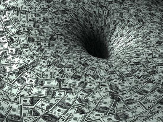 Ett svart hål för pengar